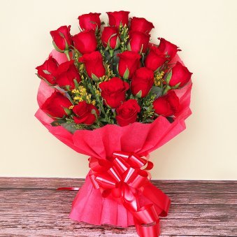 20 Red Roses Bunch - A gift of Revered Tokens