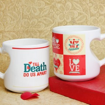 Till Death Do Us Apart Printed Mug with Both Sided View
