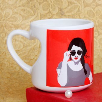 The Desi In Desirable Printed Mug with Left Sided View