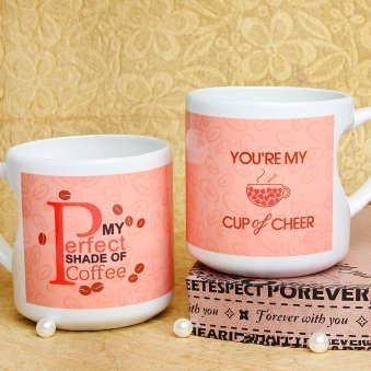 My Cup of Cheer Printed Mug with Both Sided View