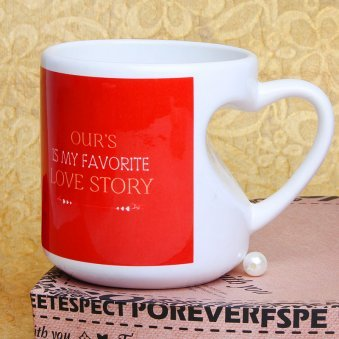 Promising You Forever Printed Mug with Front Sided View