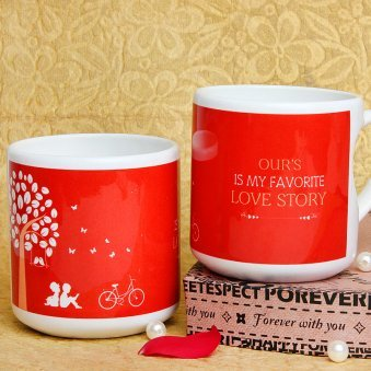 Promising You Forever Printed Mug with Both Sided View