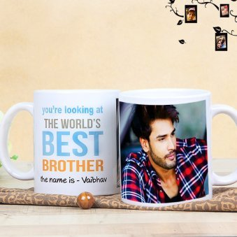Personalised Brothers Mug with Both Sided View