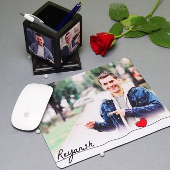 Personalised Mouse Pad with Pen Holder
