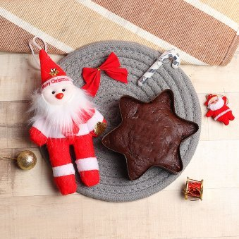 Santa with Plum Cake Christmas Combo