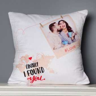 Finally Found You Personalised Printed Cushion