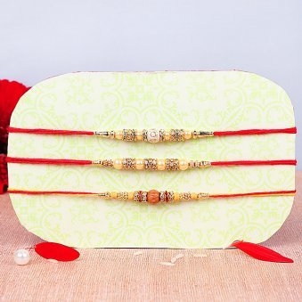 Attractive Set of Three Fancy Rakhis