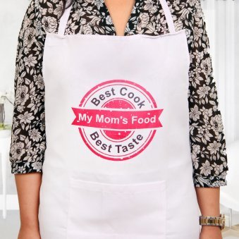 Best Cook Mom Apron with Wearing View