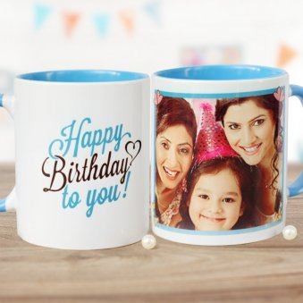 Birthday Celebration Personalised Mug with Both Sided View