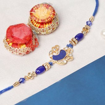 Blue Peacock Rakhi for Brother