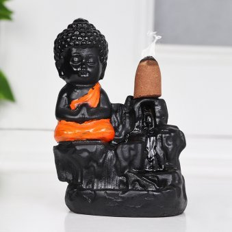 Buddha Idol with Incense Sticks