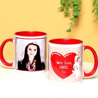 Bunny Love - A Personalised Mug with Both Side View