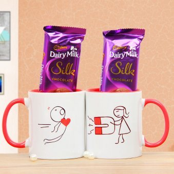 Combo of Chocolates and Cartoon Mugs