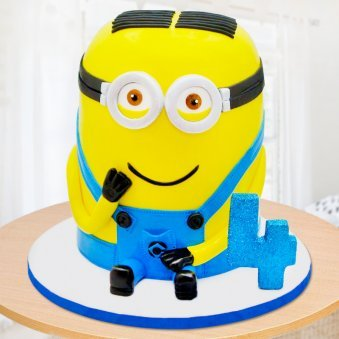 Minion cake for four year old