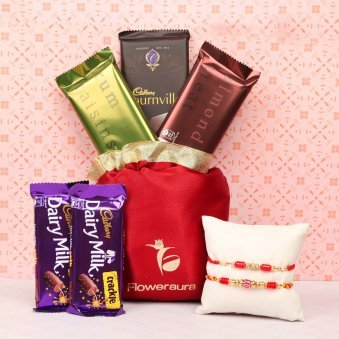Combo of Rakhi and Chocolates for Brother