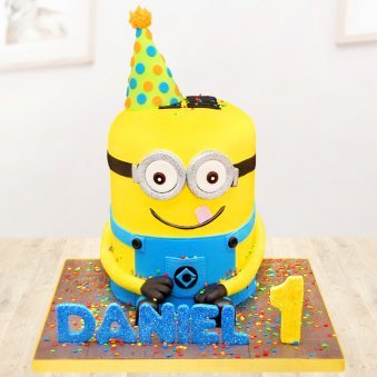 Minion cake for one year old