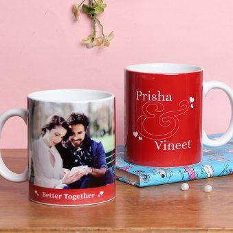 Personalised Mug for Couples with Both Side View