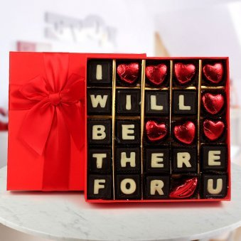 A Box of I will Be There for You Handmade Chocolate