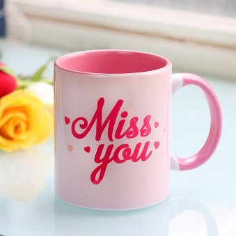 Miss You Printed Mug