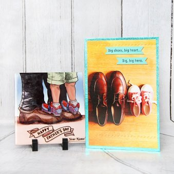 A Greeting Card and tile combo for Dad