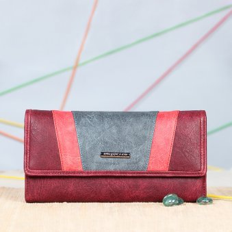 Maroon Branded Clutch