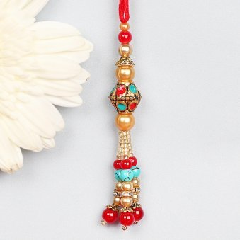Decorative Lumba Rakhi for Bhabhi