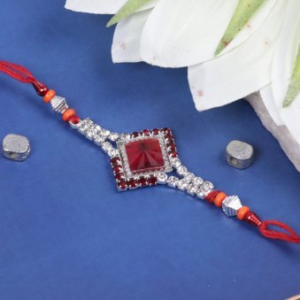 Diamond Crystals Rakhi for Bro