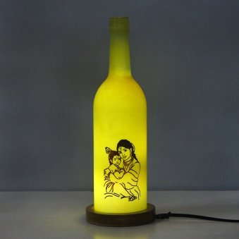 Divine Krishna Personalised Lamp
