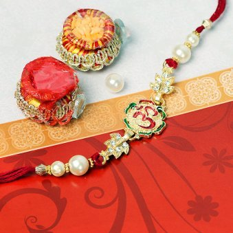 Divine Om Rakhi for Bhai