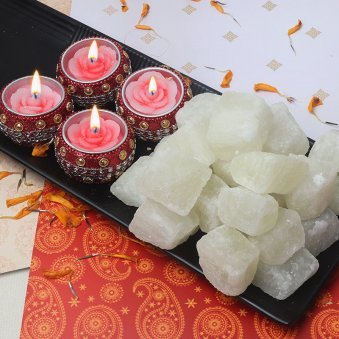 Diwali Sweets Gift Pack of Diya and Petha