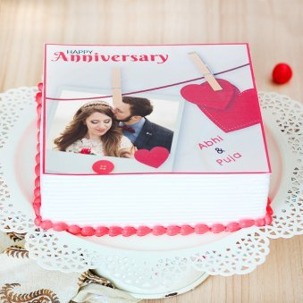Sweet Photo Anniversary Cake