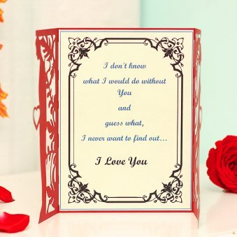 Love Quoted 3D Greeting Card