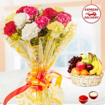 Express Flowers and Fruits for bhai dooj
