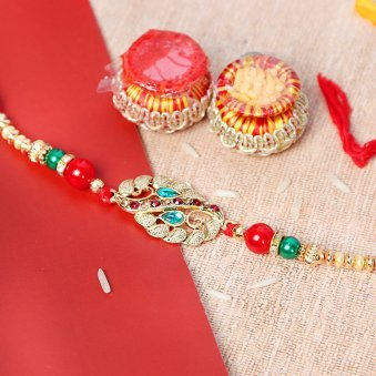 Fancy Peacock Rakhi for Brother
