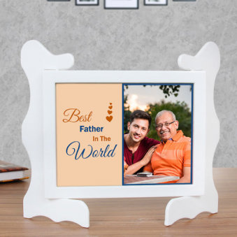 Personalised Photo Frame for Father