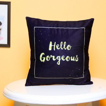 Black Gorgeous Cushion