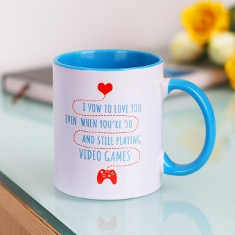 Love Forever Quote Printed Mug with Front Side View
