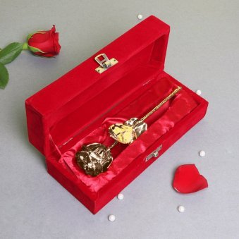 Beautiful Golden Rose in a Box