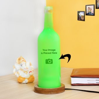Personalised Green Lamp