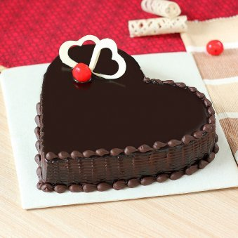 Choco Heart Cake - Zoom View