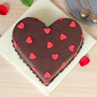 Heartiest Love Cake - Top View