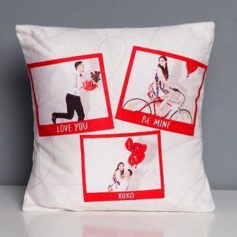 Hugs and Kisses - A Love Personalised Printed Cushion