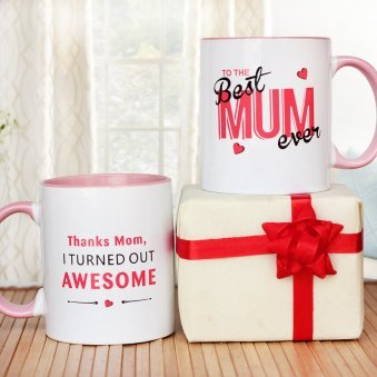 The Best Mum Ever Mug with Both Sided View