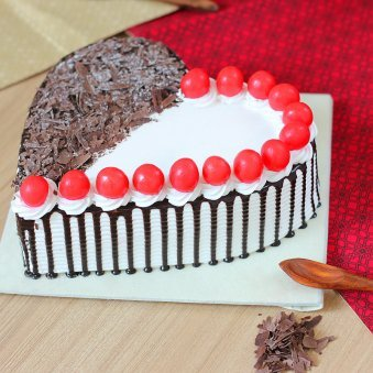 Black Forest Heart Shaped Designer Cake