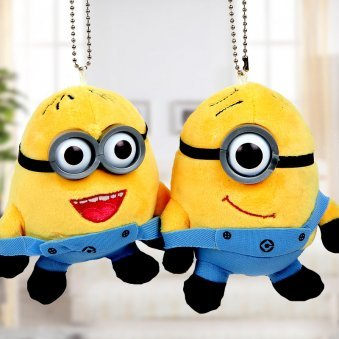 3 inches hanging jolly minion cute couple