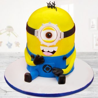 Kevin the minion cake for kids birthday
