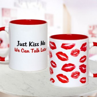 Kiss Me Mug with Both Sided View