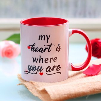 Romantic Quote Printed Mug