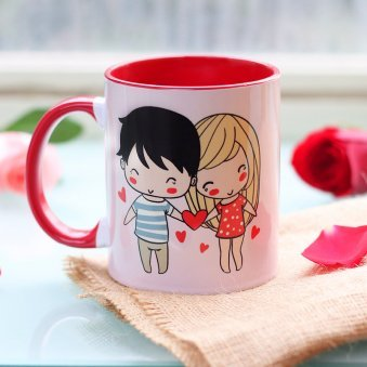 Love Binds Couple Mug with Back Side View