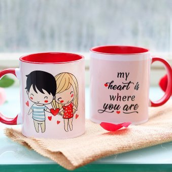 Love Binds Couple Mug with Both Side View